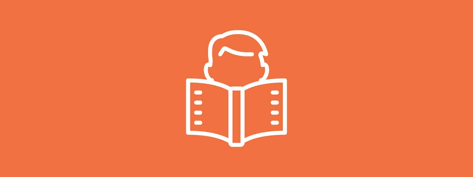 Icon of person reading
