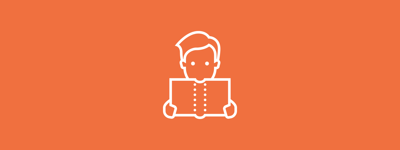 Icon background of person reading
