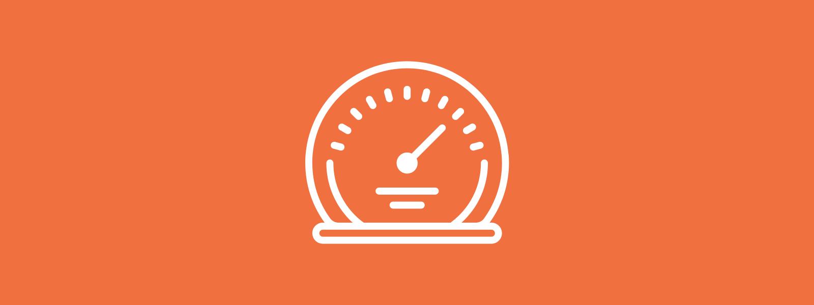 Icon background of speedometer