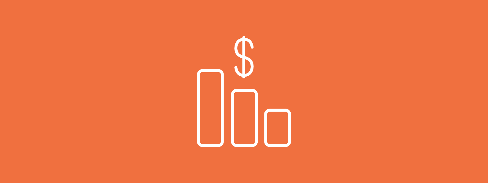 Icon background of financial graph