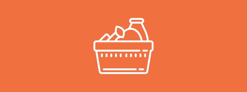 Icon background of food basket