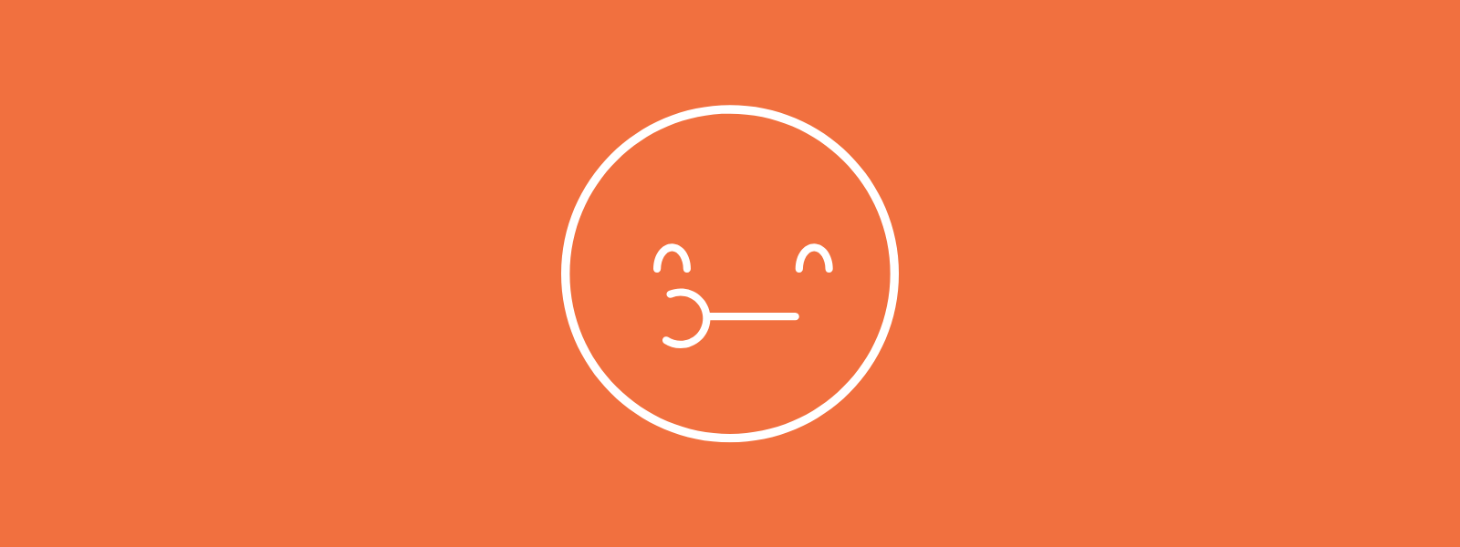 Icon background of chewing smiley