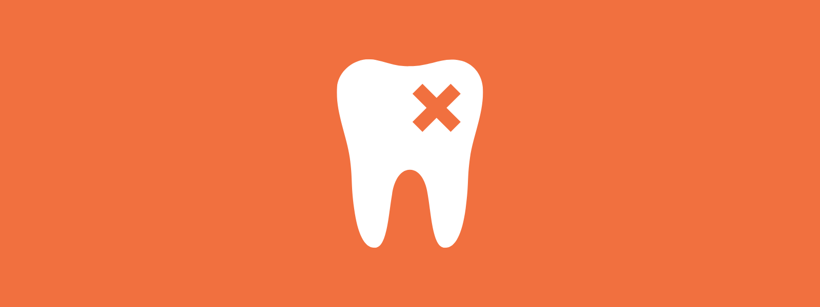 Icon background of dental issue
