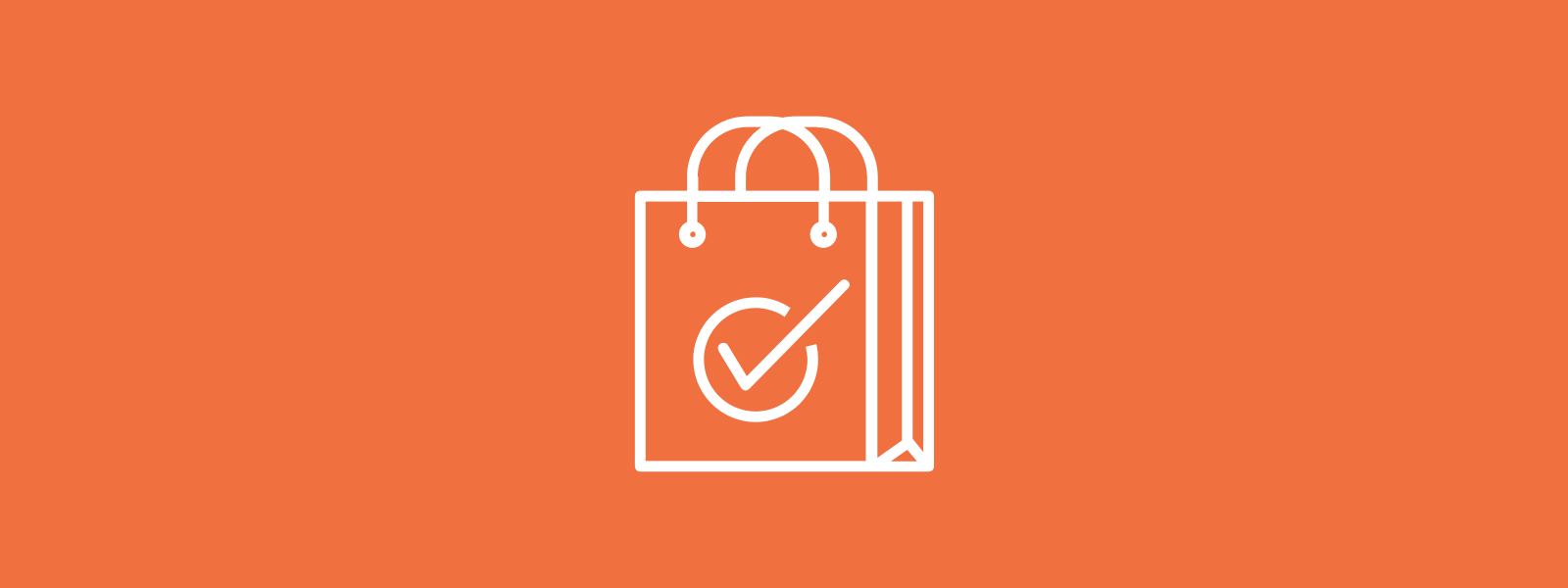 Icon background of shopping bag