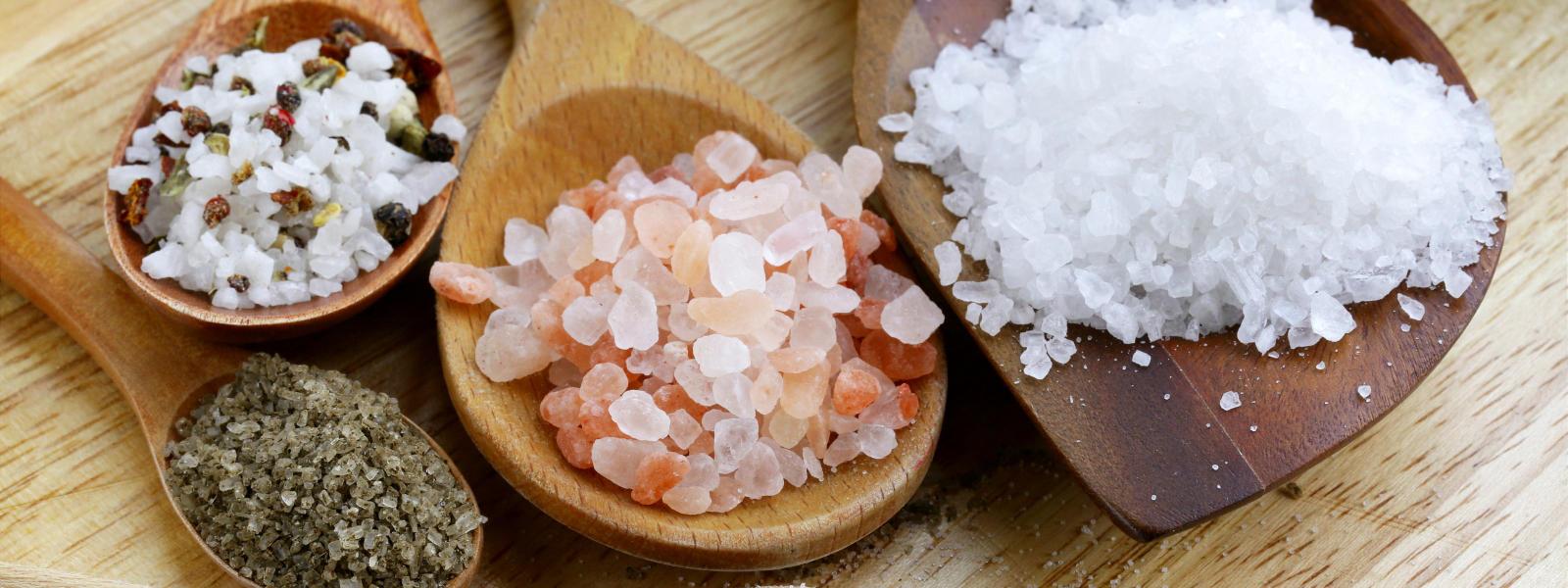 Photo of various salts