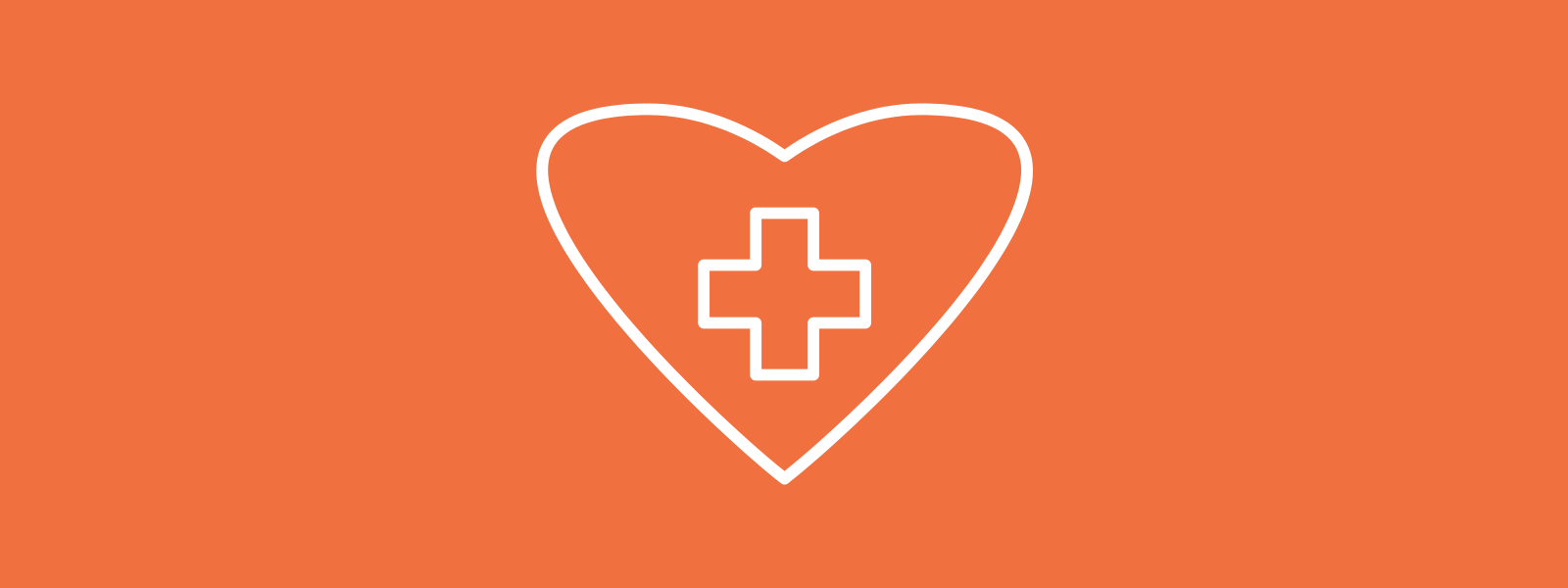 Icon background of a heart with plus inside