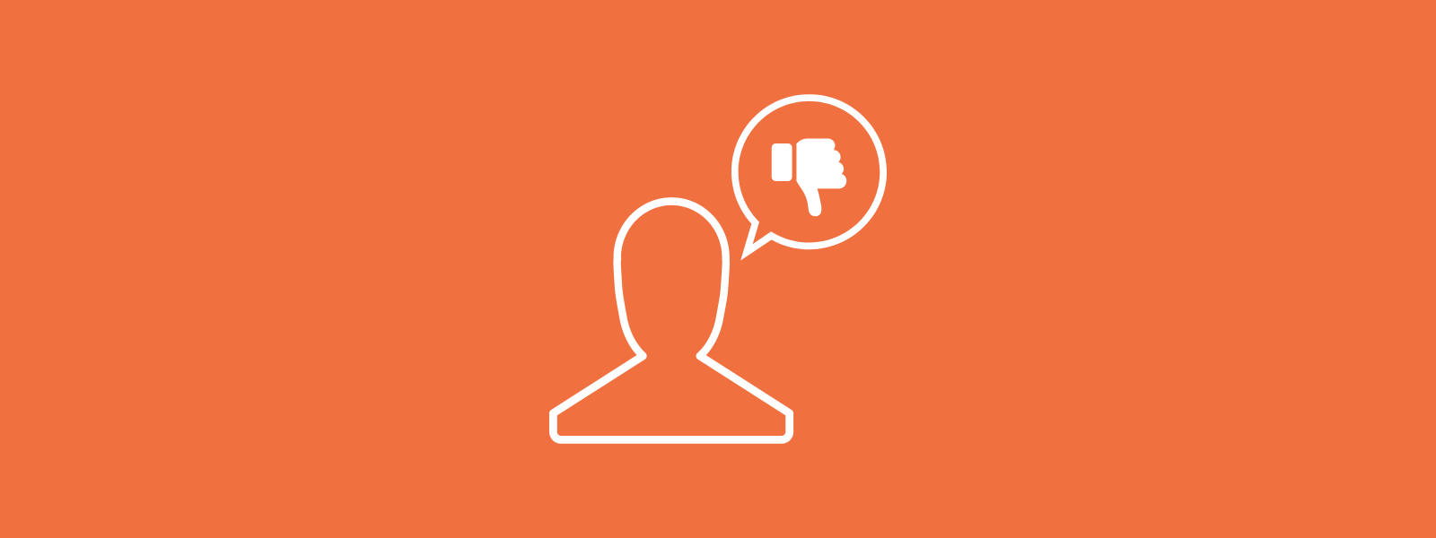 Icon background of person expressing disagreement