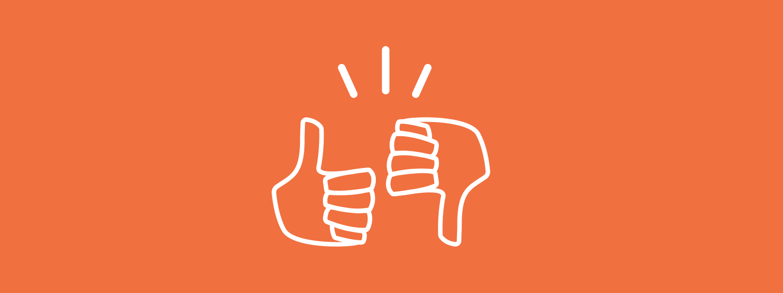 Icon background of thumbs up and thumbs down