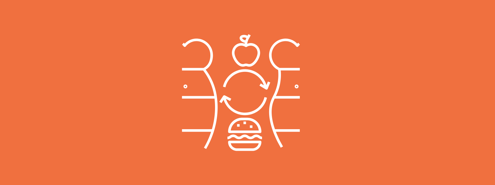 Icon background of weight changes through healthier diet
