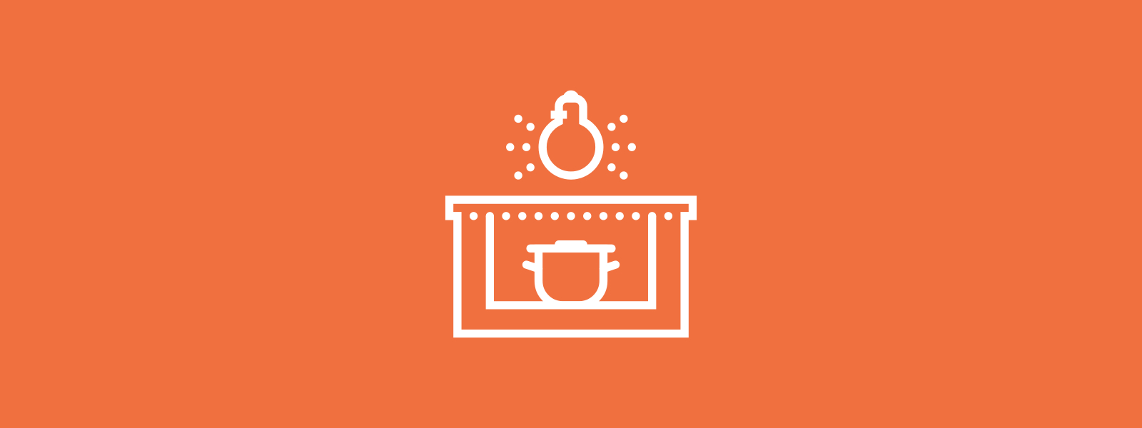 Icon background of cooking stove