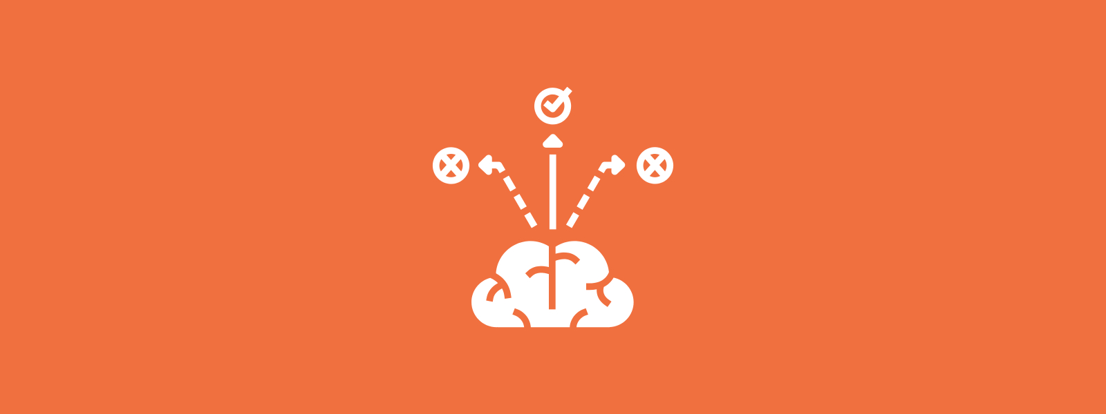 Icon background of brain thought process
