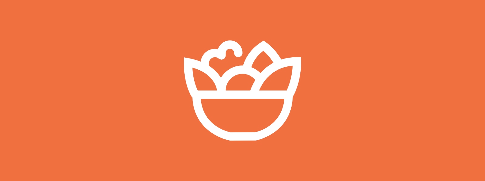 Icon background of produce bowl