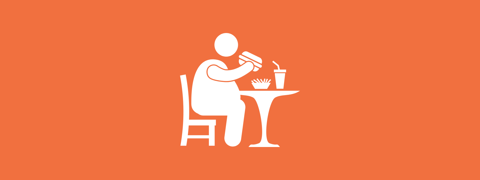 Icon background of person eating junk food