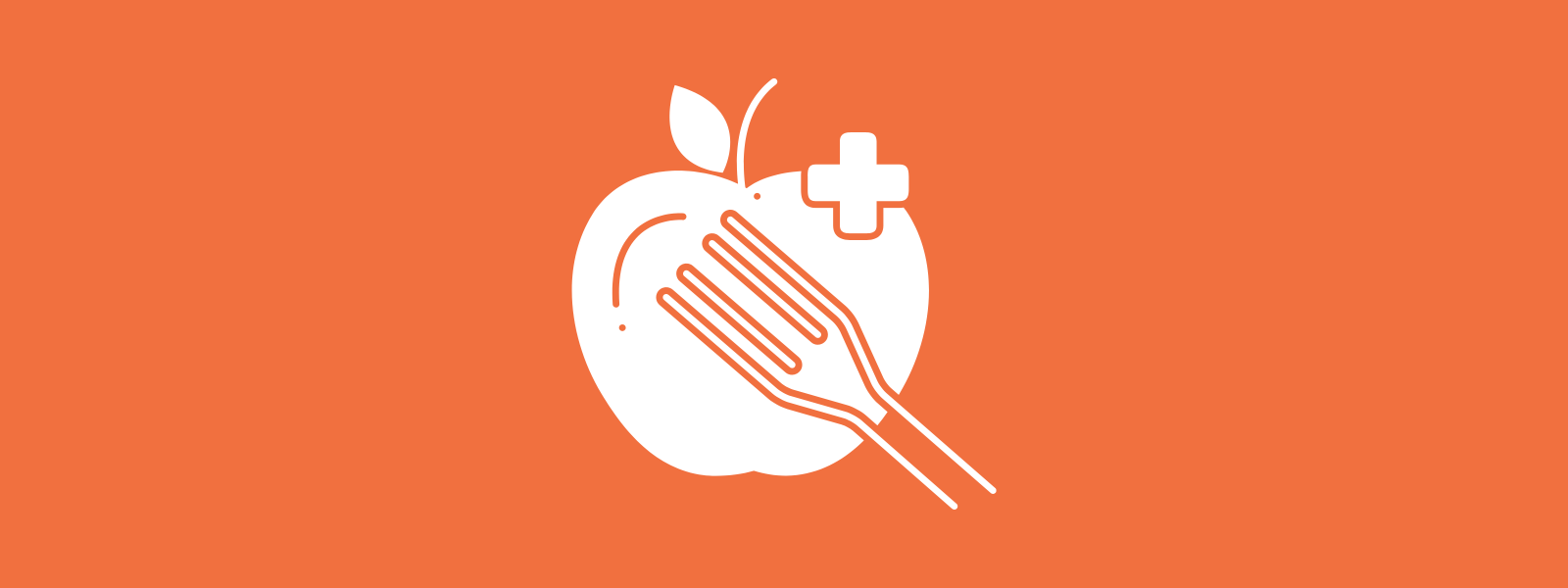 Icon background of eating healthy
