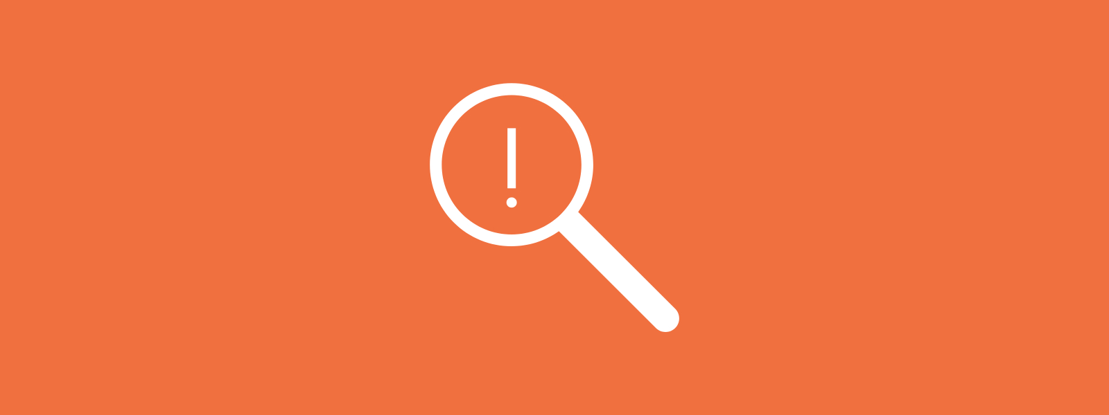 Icon background of magnifying glass information