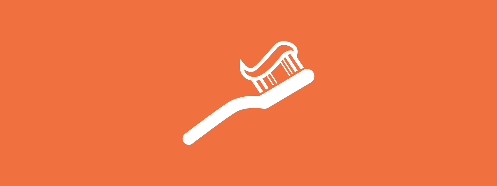 Icon background of toothbrush with toothpaste on it