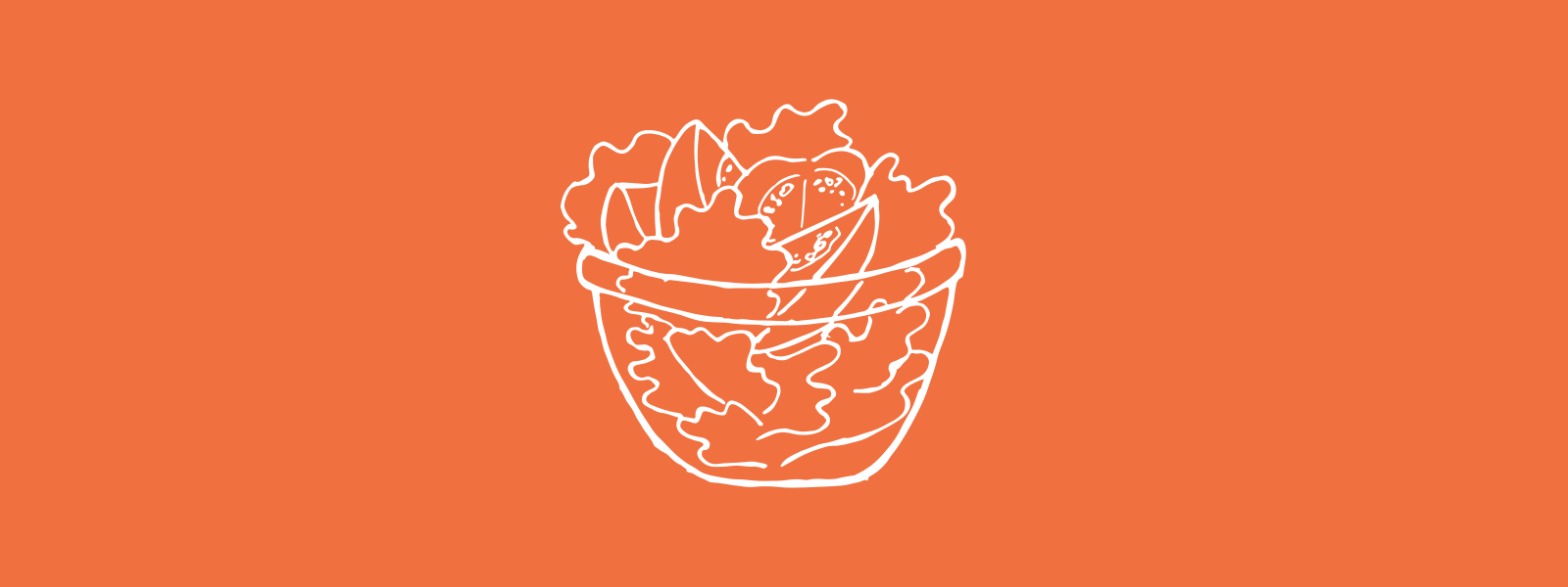 Icon background of a fresh salad bowl