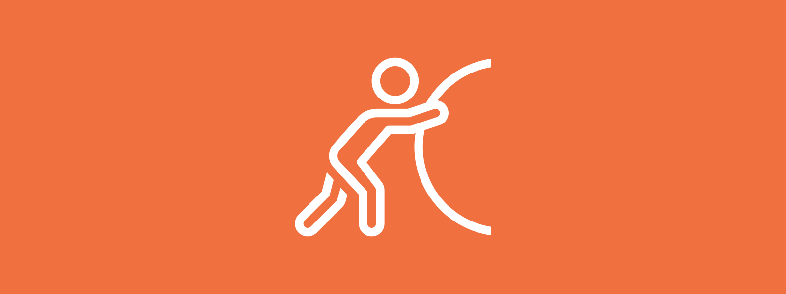 Icon background of person pushing boulder
