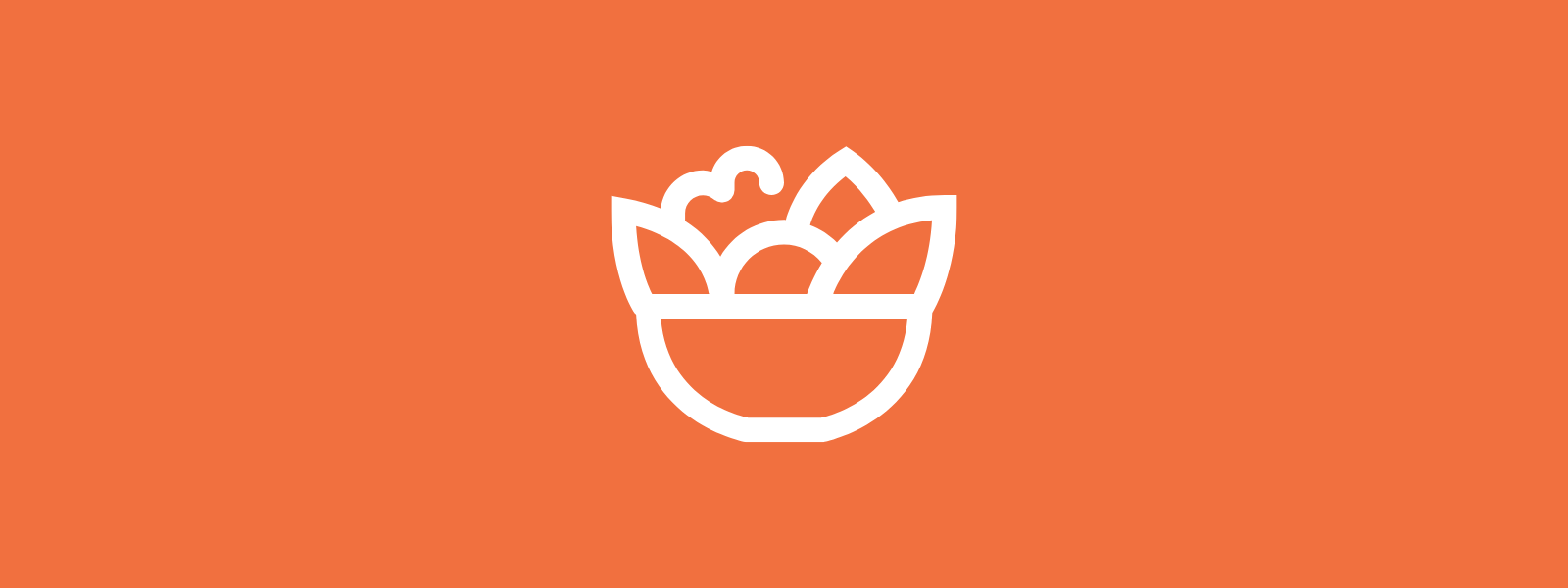 Icon background of a salad bowl