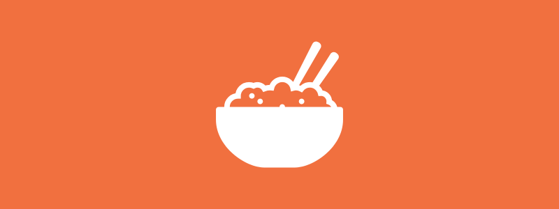 Icon background of a bowl of food