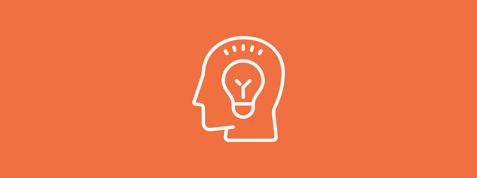 Icon background of head and idea bulb